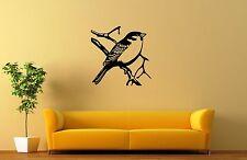 Wall Stickers Vinyl Decal Nature Bird Tree Sparrow ig155
