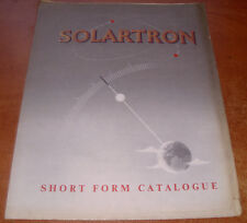 Solartron - Short Form Catalogue - 5 Page Leaflet