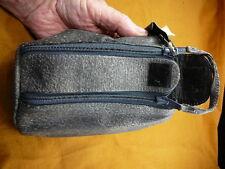 (EL500-1) Genuine warthog hide leather toiletry bathroom travel golf carry bag