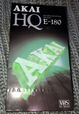 2x Blank VHS Media Tapes Akai E-180 and Excel Eq-240 for VCR Recorders