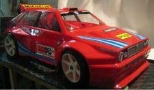 Carrozzeria BODY 1/8 Lancia Delta HF + Alettone da verniciare Rally +adesivi