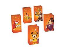 Disney Mickey & Friends Luminary Kit Halloween Set of 5 Bags and Glow Sticks