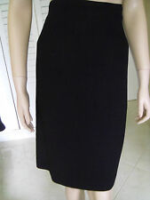 Skirt LaVia IT 36 Black Pencil Straight Lined Pre-Owned Dry Cleaned