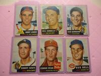 1953 topps lot baseball