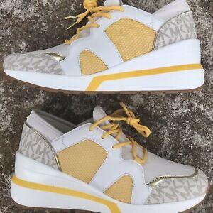 Michael Michael Kors Shoes Liv Trainer Low Top Lace Up Size 7.5 Women's