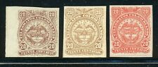 COLOMBIA MH TELEGRAFOS TELEGRAPHS Selections: 20c Arms Assortment 1880s $$$