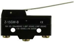 New LS-Z-15GW-B Micro Switch Hinge Lever Type Actuator Limit Switch 15A 250VAC