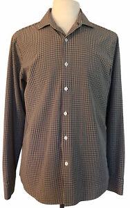 Men's MIZZEN MAIN L Trim Fit Multi-Color Plaid Button Front Long Sleeve Shirt