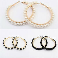 Dangle Big Circle Jewelry Earring Wedding Ear Gift Stud Charm Drop Women Beads