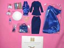 "Integrity Fashion Royalty - East 59th Midnight Kiss Aurelia Grey 12"" Doll Outfit"