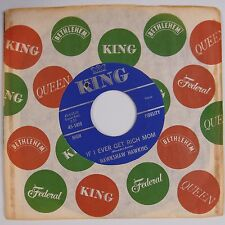 HAWKSHAW HAWKINS: If I Ever Get Rich Mom / Caught in the Middle KING 45 NM-