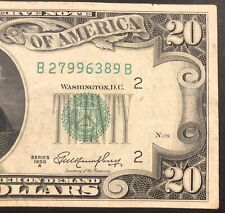 1950 A $20  Federal Reserve note New York Mint Decent Bill