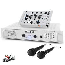 DJ PA Mischpult mit Verstärker und ein Paar Mikrofone für Karaoke Partys