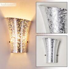 Licht Effekt Wand Lampe silberfarben Wohn Schlaf Raum Flur Dielen Leuchte modern