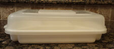 RUBBERMAID Servin Saver Rectangle Veggie & Dip Food Tray 5 Sectional w/ Lid