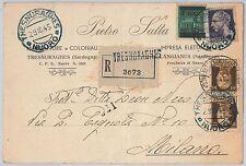 ITALIA LUOGOTENENZA - storia postale: CARTOLINA pubblicitaria: TRESNURAGHES 1945