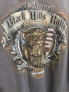 ~ Brand New 71st Annual Harley Davidson Black Hills Sturgis T-Shirt Buffalo XXL