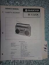 Sanyo M-X320K MX320K service manual original repair book stereo boombox radio