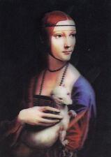 3D Lenticular Postcards - Lady with an Ermine, Leonardo da Vinci