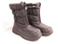 Boys Girls Childrens Black Snow Rain Mud Boots with Zip Size UK 12 (Euro 30)