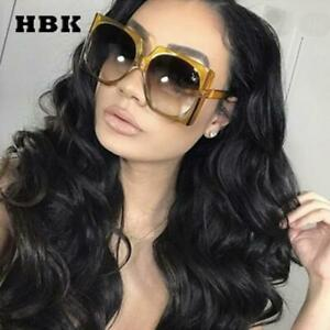 Square Sunglasses Oversized Big Frame Vintage Women Brand Designer Luxury 2019 N