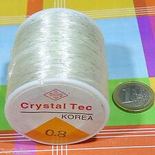 1 Bobina Filo Elastico di silicone 0,8mm x 100 Metri Perline elastico Thread
