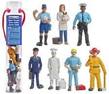 7 Action Figures Cop Mailman Pilot Chef Fireman Construction Worker Veterinarian