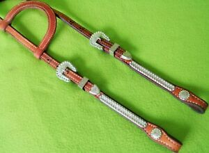 BILLY COOK Rameirz SILVER Western Show HEADSTALL Bridle~NICE Con~BERRY Silver~NR