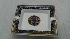 Beautiful T.Limoges blue gold painted rectangular ashtray