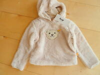 H/W 16/17 STEIFF winter dots  Flausch Sweatshirt, beige gr.(86) 92-116