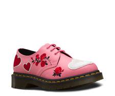 Dr Martens 1461 Sequin Hearts UK 6 EUR 39 Geranium Pink White Leather Shoes Bag