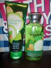 Bath & Body Works Cucumber Melon 10-oz Shower Gel & 8-oz Body Cream