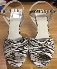 Stuart Weitzman High Heels 7.5 M Black/White/Gold Zebra