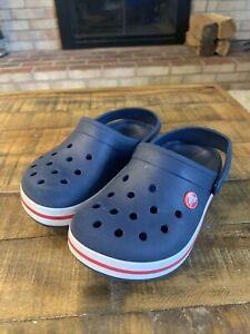 Crocs Bayaband Clog Blue & Red/White Unisex Kids/Juniors Size J1
