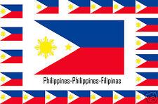 Assortiment lot de 10 autocollants Vinyle stickers drapeau Philippines-Filipinas