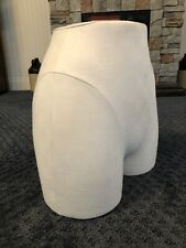 "Mannequin Bottom Torso White Fabric covered 14"" height 12"" width"