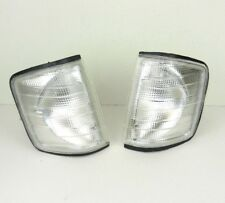 MERCEDES 190 / 190E [W201] 1982-1993 FRONT INDICATOR PAIR REPEATER SET - CLEAR