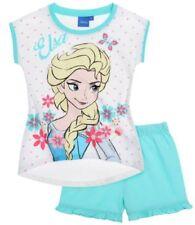 Pyjamas blanc manches courtes pour fille de 2 à 16 ans