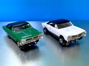 Lot of 2 MODEL MOTORING 1967 CHEVY CHEVELLE SS Orig T-Jet Chassis & AW Chassis