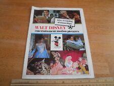 1969-70 Walt Disney 16mm film ctalog Alice in Wonderland Ichabod Mr. Toad