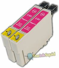 2 Magenta T0553 non-OEM Ink Cartridge For Epson Stylus Photo RX420 RX425 RX520