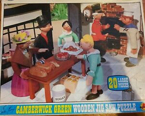 Rare Vintage Camberwick Green Wooden Jigsaws by Arrow Games dated 1970