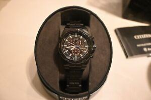Citizen Men's WR200 Eco-Drive Perpetual Calendar Chronograph Watch Black