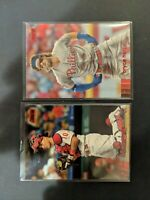 2020 Stadium Club Phillies 2 Card Lot Red Foil Parallel Harper Realmuto