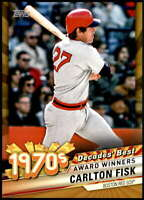 Carlton Fisk 2020 Topps Decade's Best Series 2 5x7 Gold #DB-32 /10 Red Sox