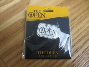 BNWT 149TH ROYAL ST GEORGES 2021 OPEN GOLF LAPEL PIN BADGE BLACK NICKEL WHITE