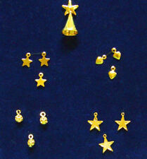 1:12 Scale Dollhouse Miniature Brass/Gold Christmas Tree Decorations #SD1969
