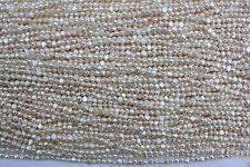 BR50   5-6mm Zuchtperlen Strang Süßwasser Perlen Schmuck Kette Halskette barock