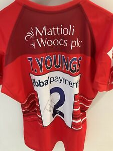 Leicester Tigers Tom Youngs Signed European Challenge Cup Match Shirt