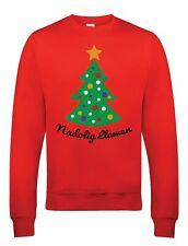 Nadolig Llawen Christmas Sweatshirt - Red Jumper with Christmas Tree